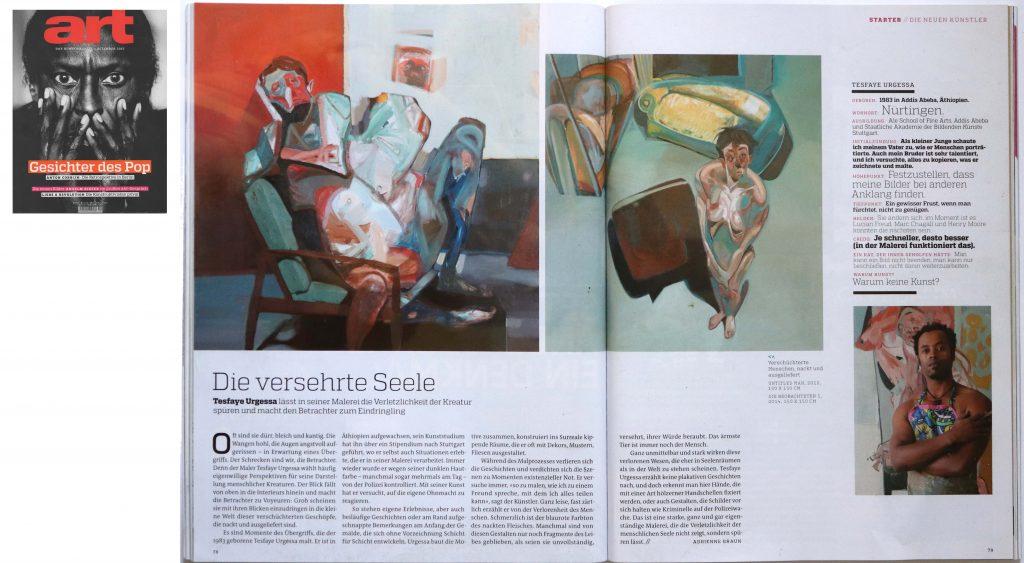 Tesfaye Urgessa: mentions in art magazine
